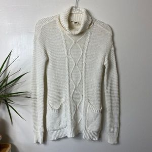 Roxy Cable Knit Turtleneck Sweater